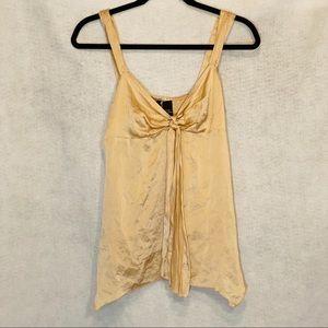 New York & Company 10 Top Shirt Tan Sleeveless